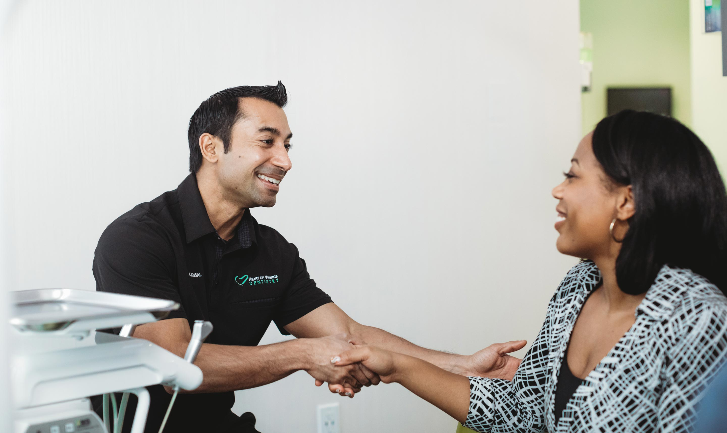 Photo of Dr. Ronak Patel with a patient
