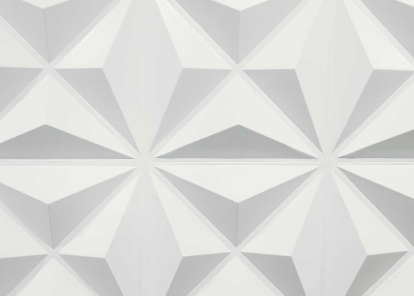 Photo of a geometric wall decoration