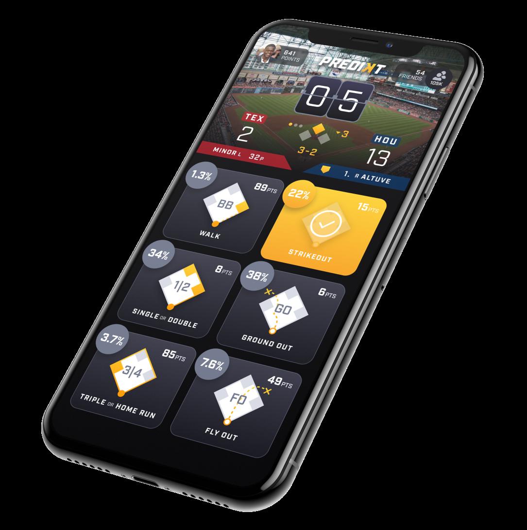 Predikt app on a mobile phone