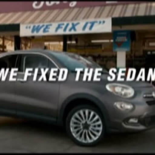 Gray Sedan with text that reads: We Fixed The Sedan