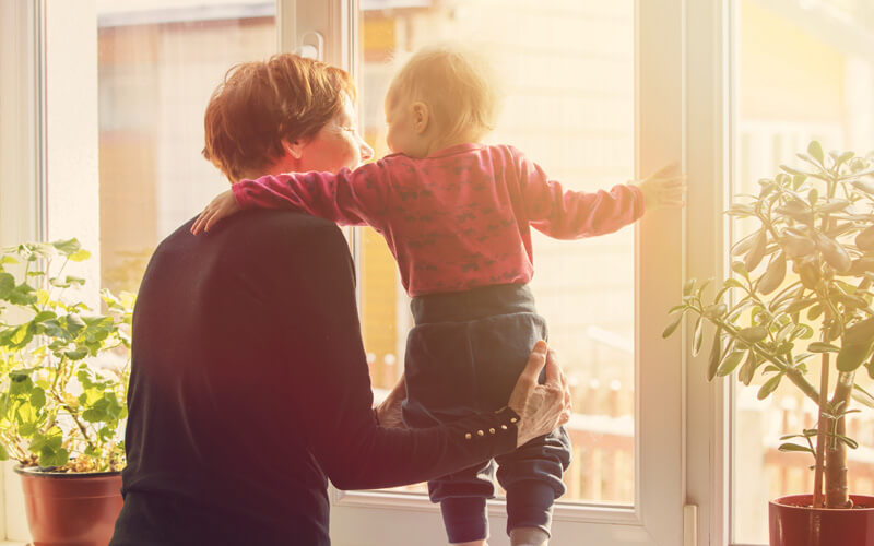 Legacy planning - grandmother with granddaughter