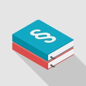 Gesetzesbücher Illustration