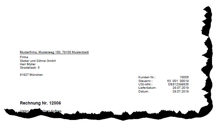 Rechnungsvorlage: Rechnung mit ausgewiesener USt