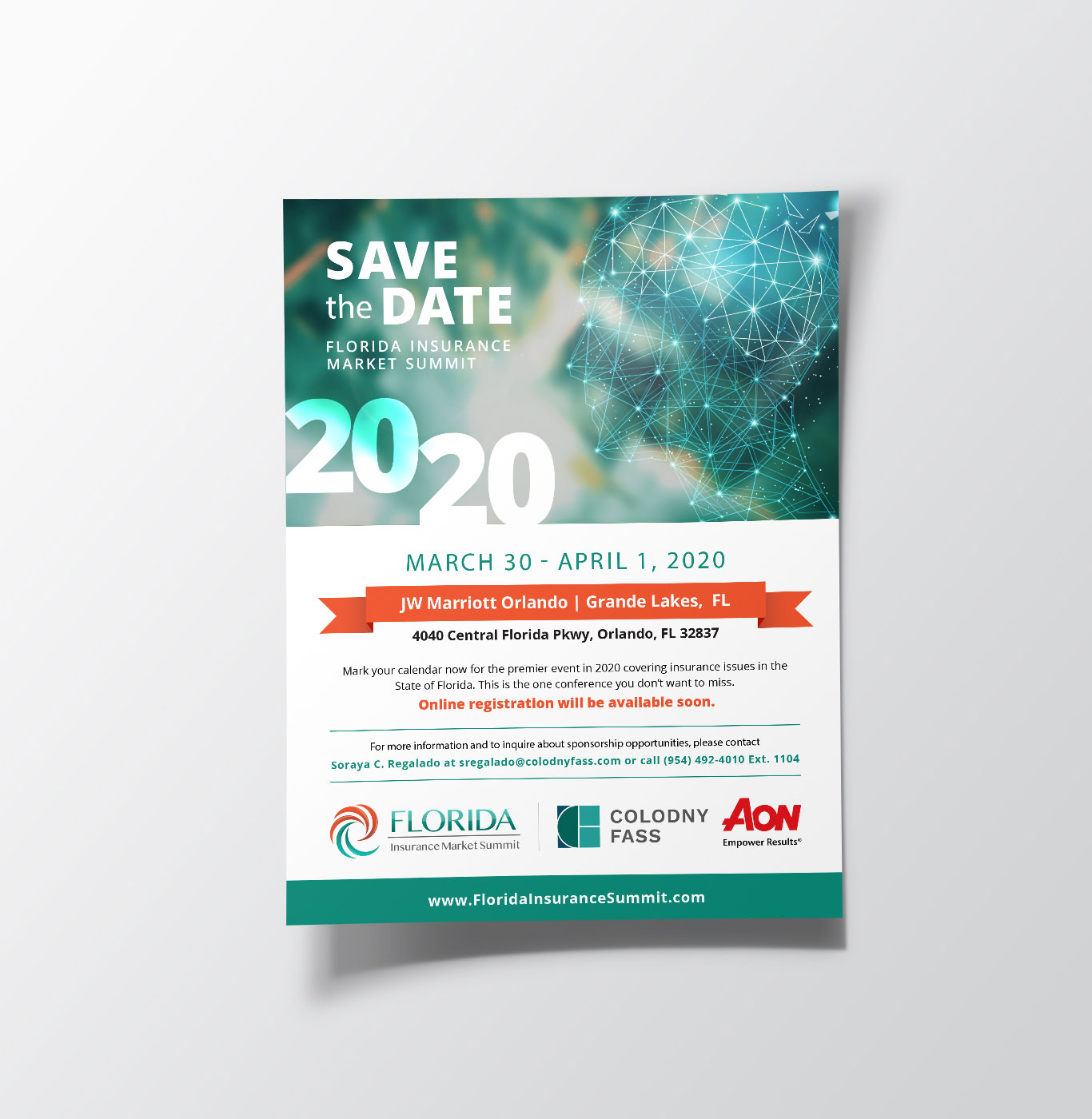 Save the Date flyer designed for the Florida Insurance Market Summit.