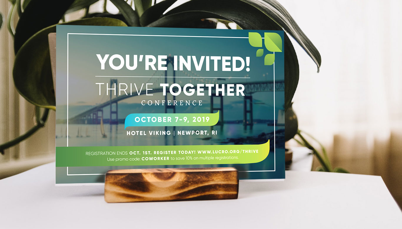 Postcard designed for the Thrive Together Conference.