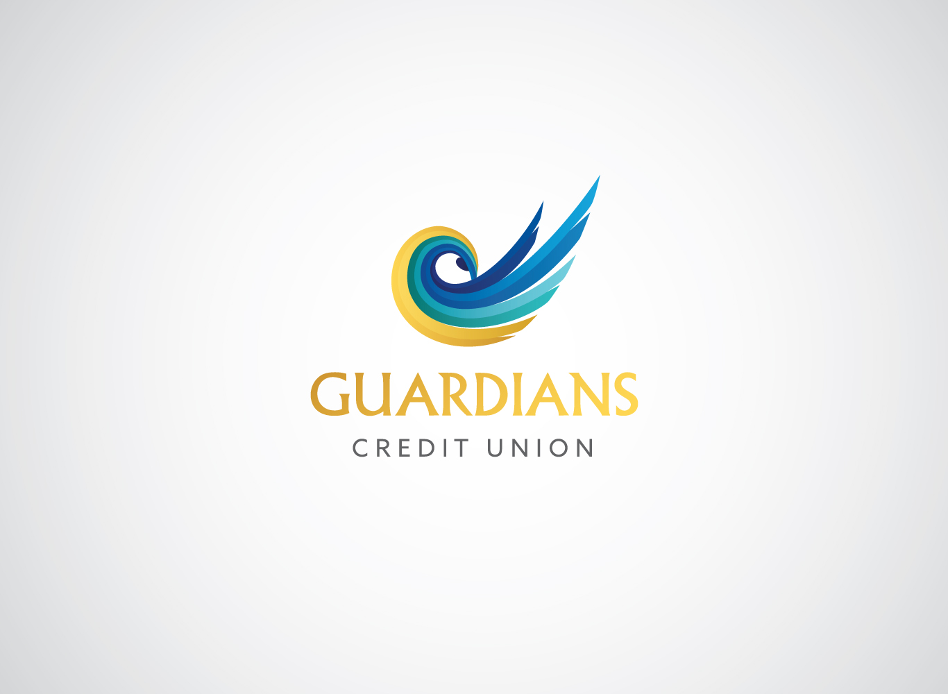 After; The new Guardians Credit Union logo.