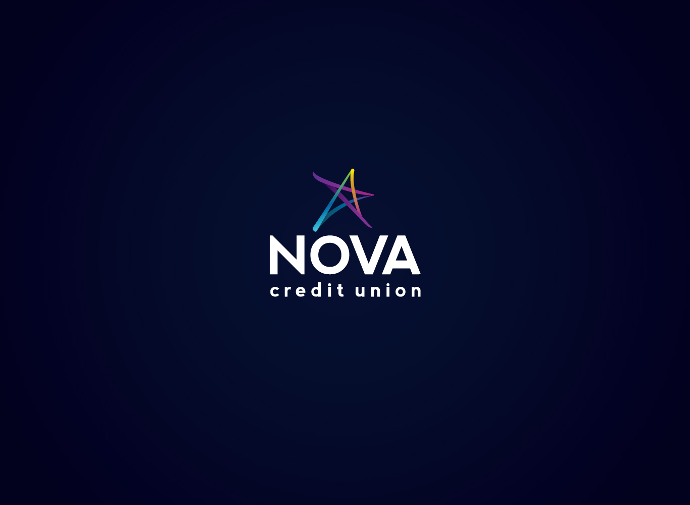 After; the new Nova Credit Union logo.