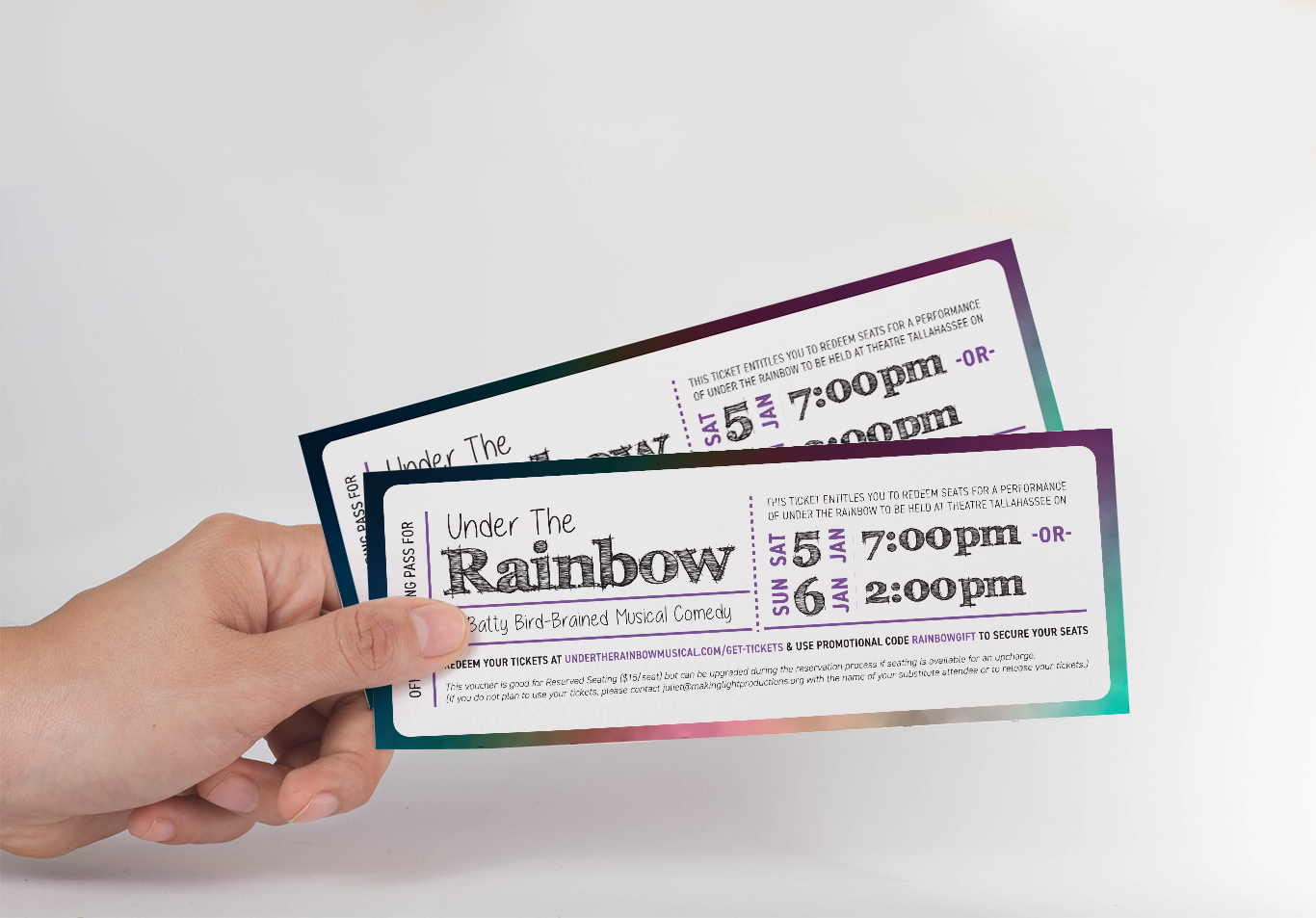 designed certificates for under the rainbow