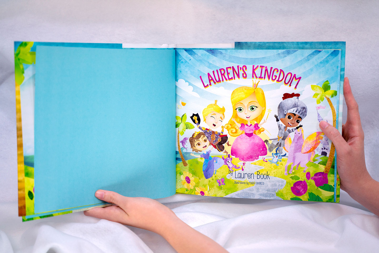 Colorful illustration designed for the children's book, Lauren's Kingdom.