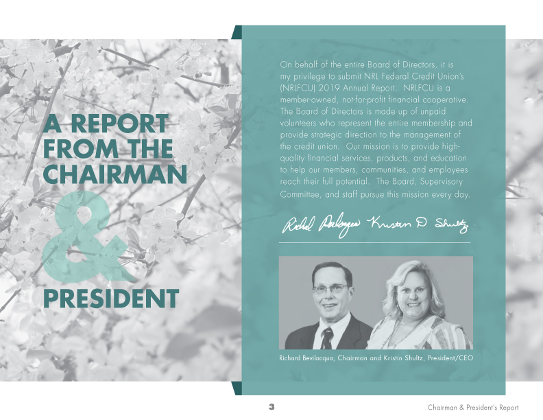 Interior page of the NRL Federal Credit Union Annual Report.