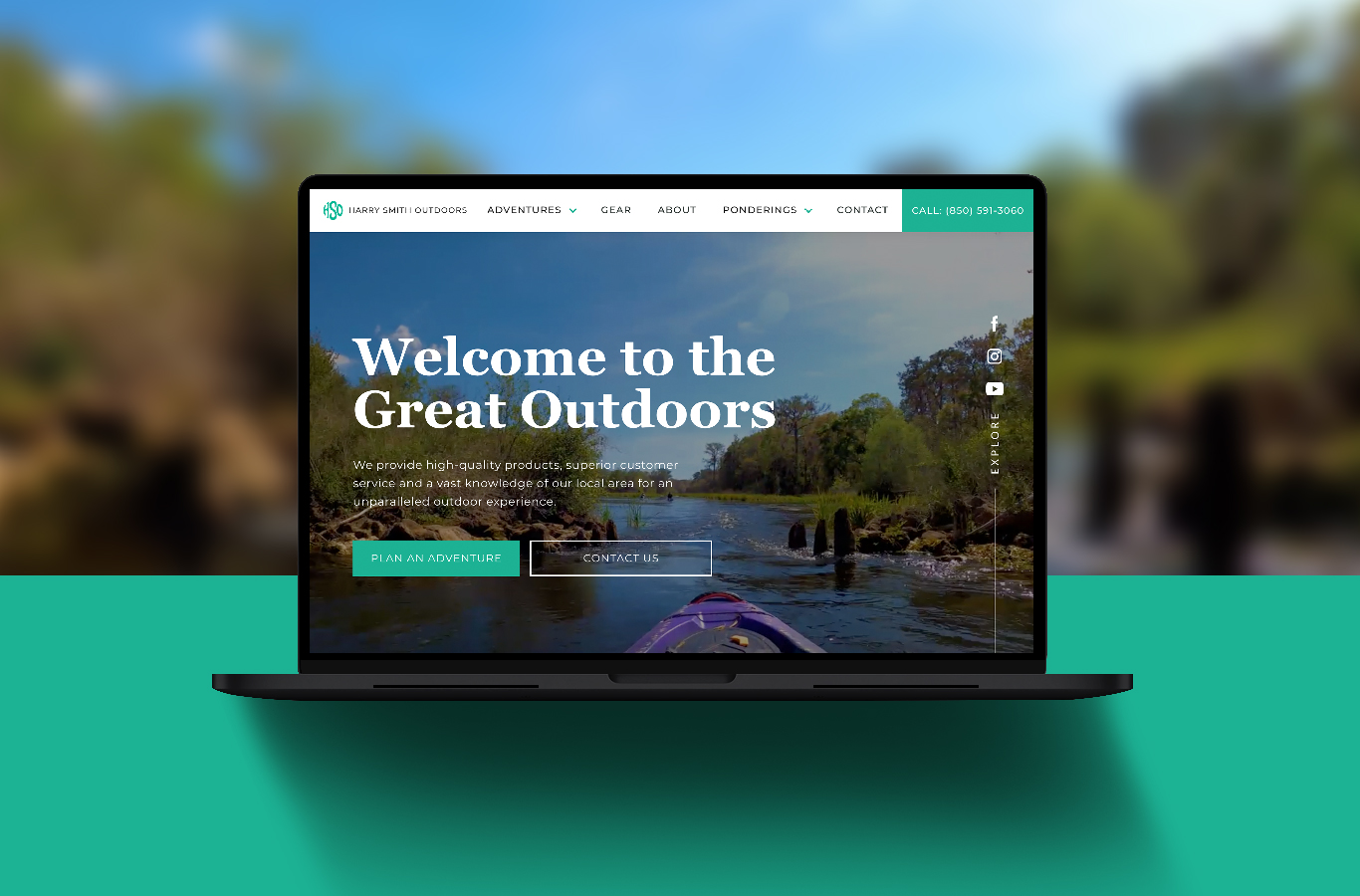 Harry Smith Outdoors website design