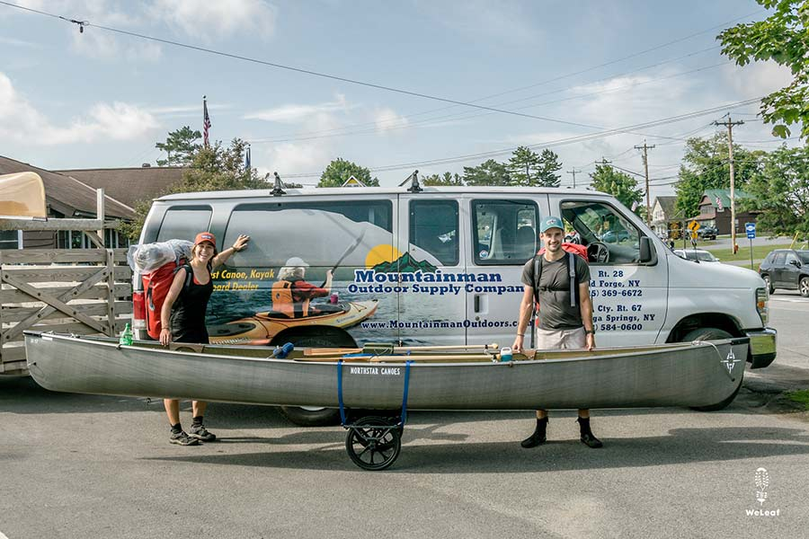 Photo of paddlers getting ready to paddle the Northern Forest Canoe Trail.