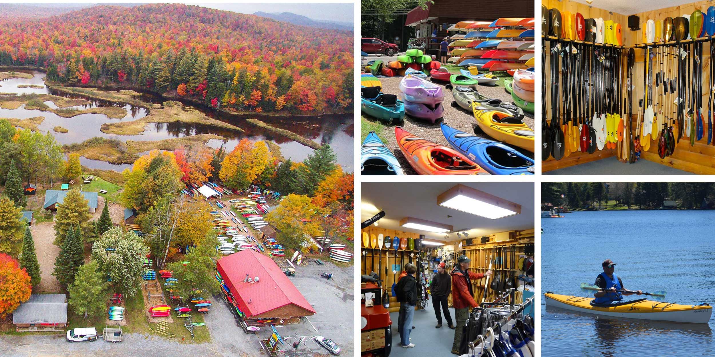 Various photos of Paddlesports shops