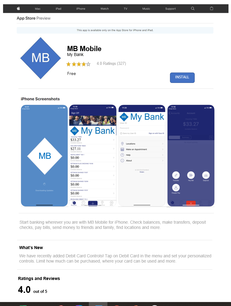 Mobile Banking IOS app