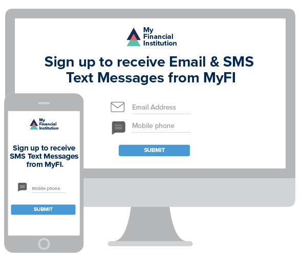 computer and phone opt in messages