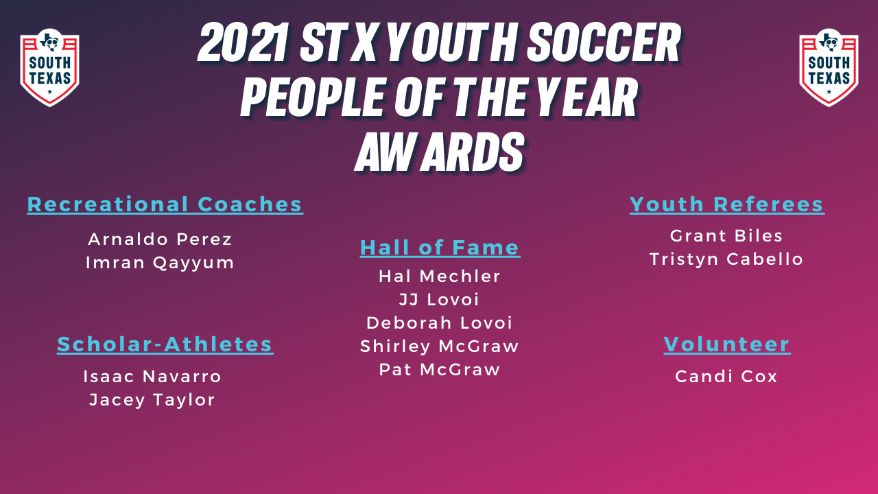 STX Youth Soccer People of the Year & Hall of Fame Class for 2021