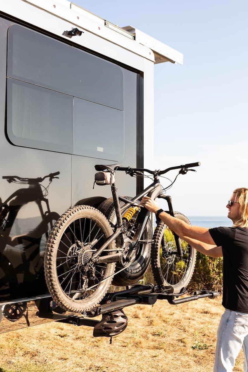 full time trailer bike rack