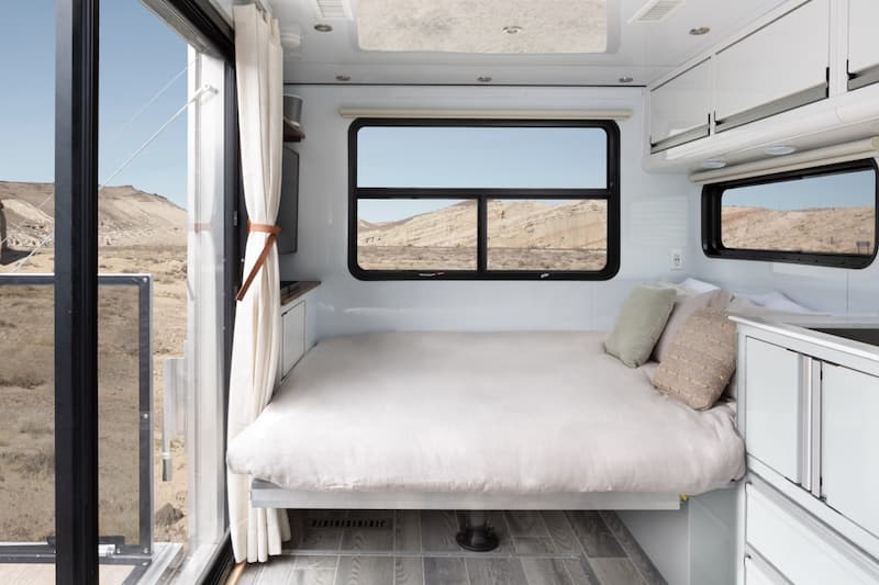 luxury camper trailer with extra bed