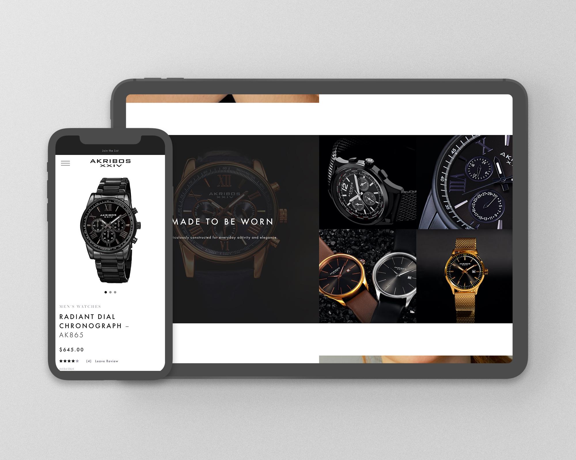 Akribos XXIVE Watch E-Commerce Website Design
