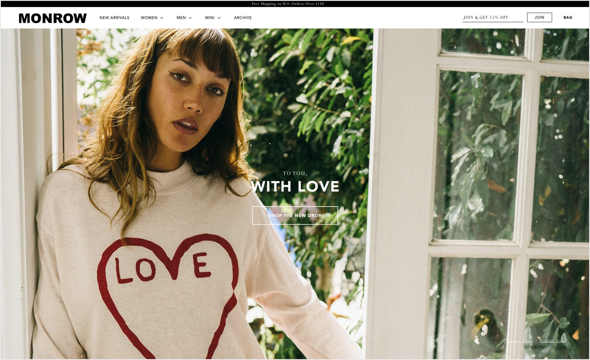 A Shopify ecommmerce Website Design of a fashion company