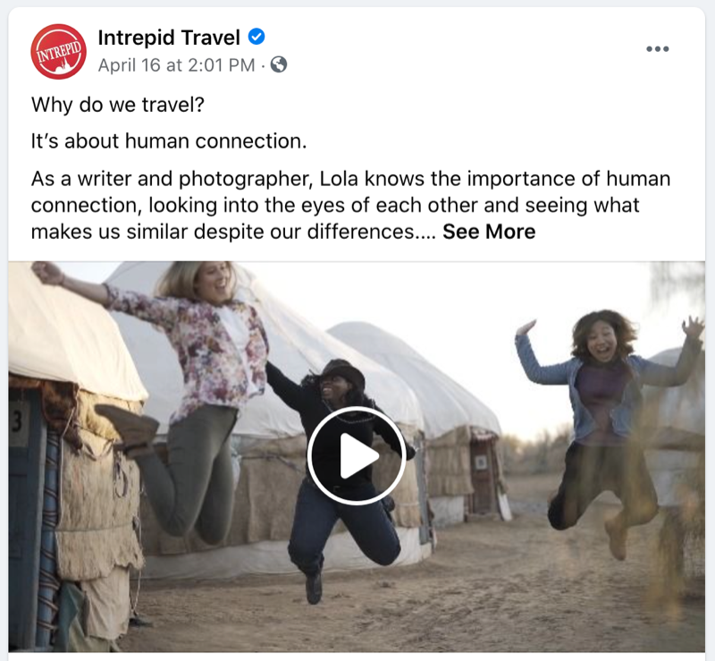 Intrepid Travel Facebook video