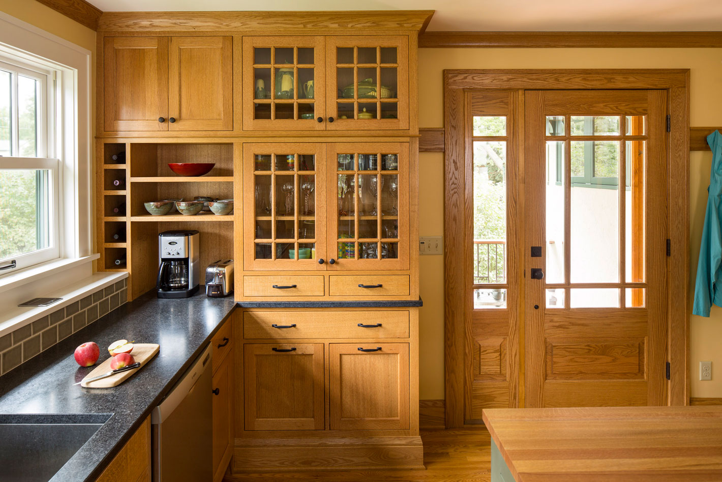 View across kitchen to beautiful cabinets