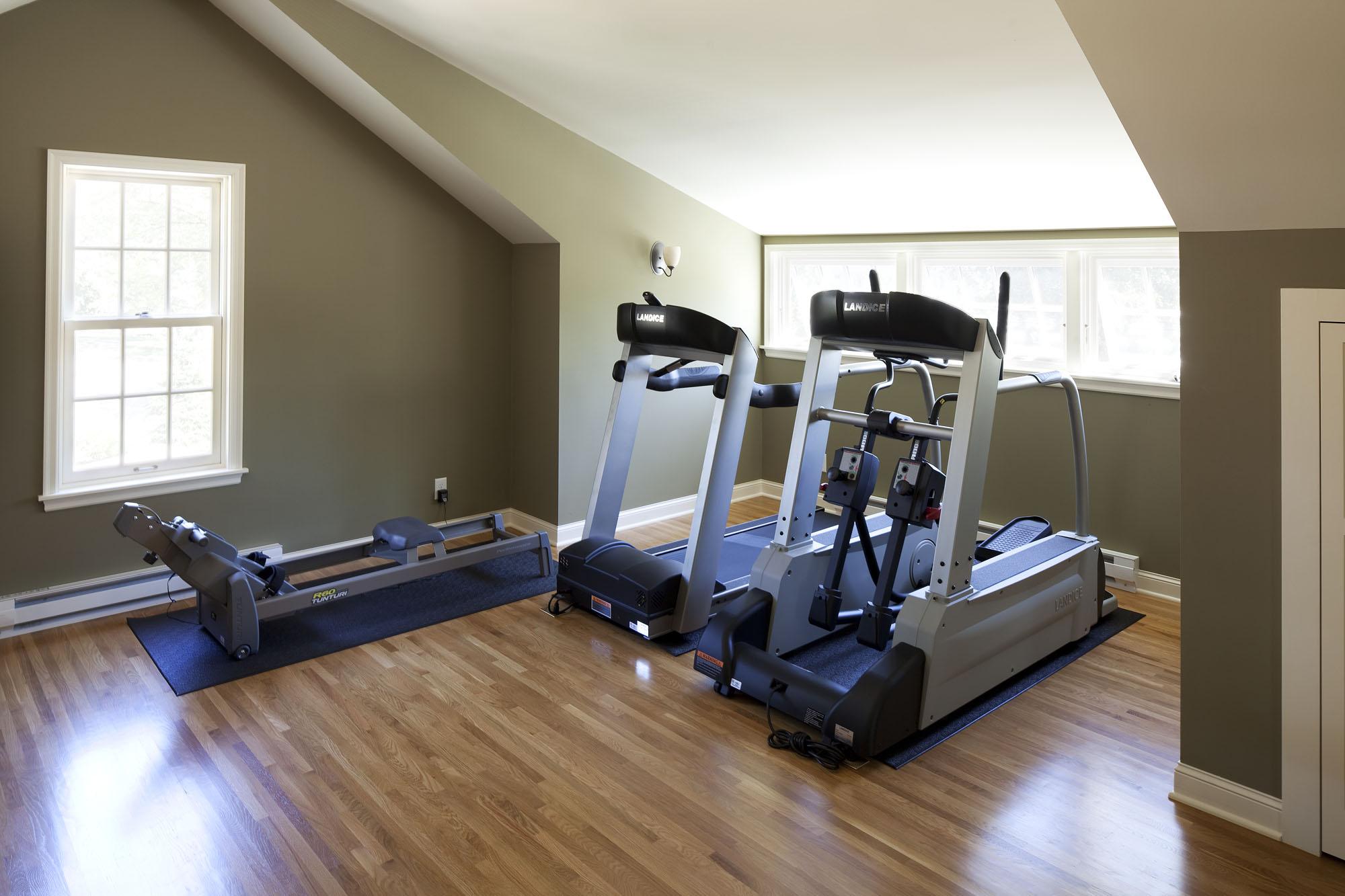 Interior shot with treadmills