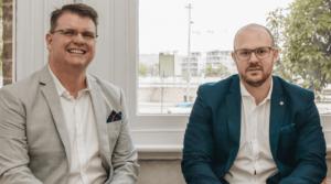 Macquarie Commercial real estate directors Luke Belotti and Matthew Neal