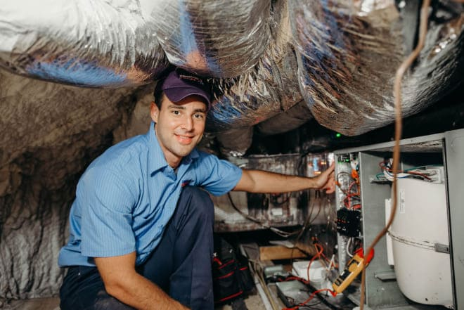 Cleaning The System AC Repair in The Woodlands, Texas