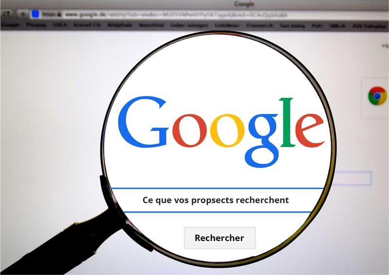 Image de la barre recherche de google