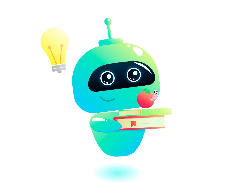 Illustration de robot qui a du temps libre pour faire ses activités