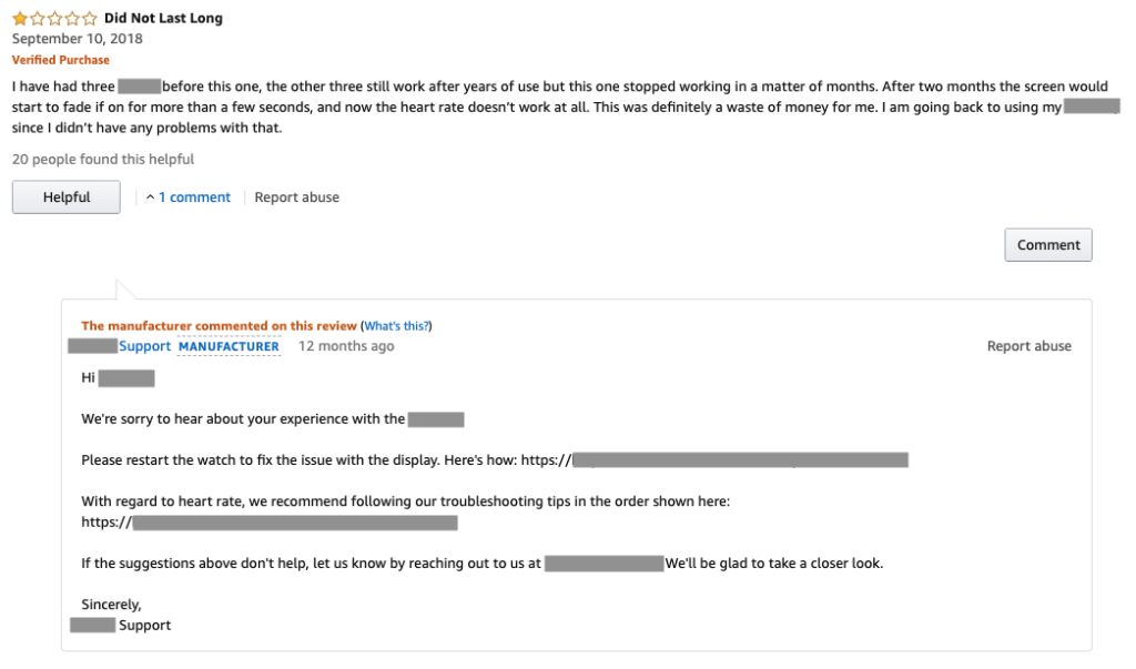 Amazon-review-and-response