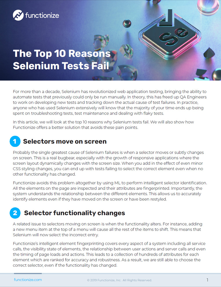 The Top 10 Reasons Selenium Tests Fail