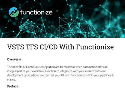 VSTS TFS CI/CD With Functionize