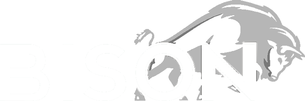 Bison white logo