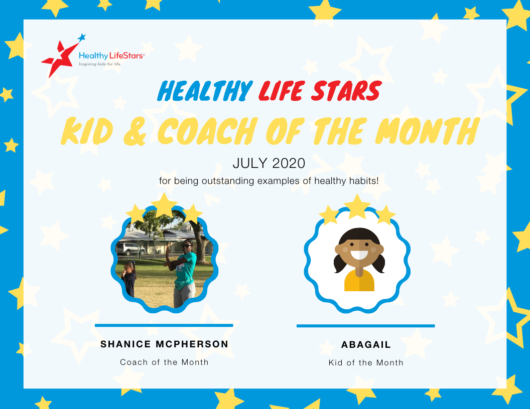 July Kid and Coach of the Month