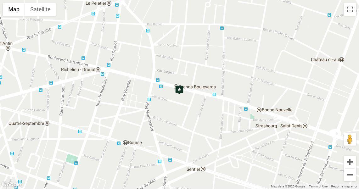 map hôtel des grands boulevards paris