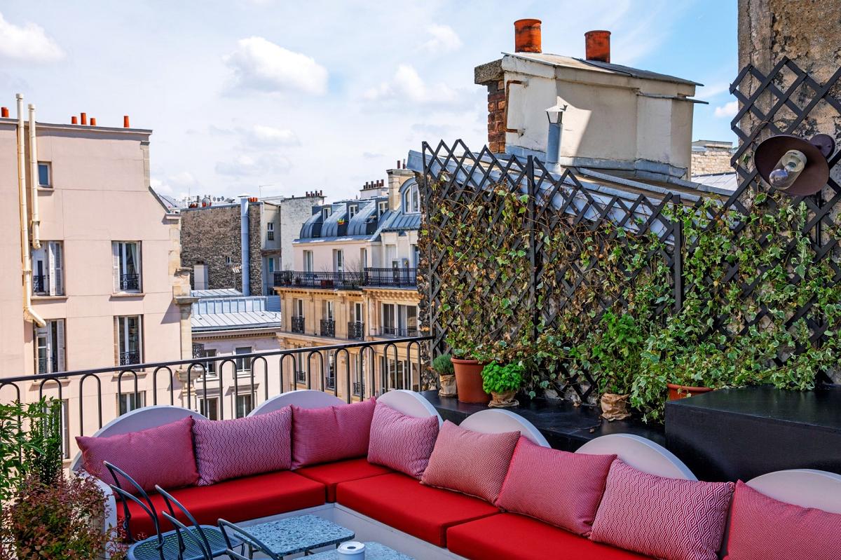 vue bar hôtel des grands boulevards paris