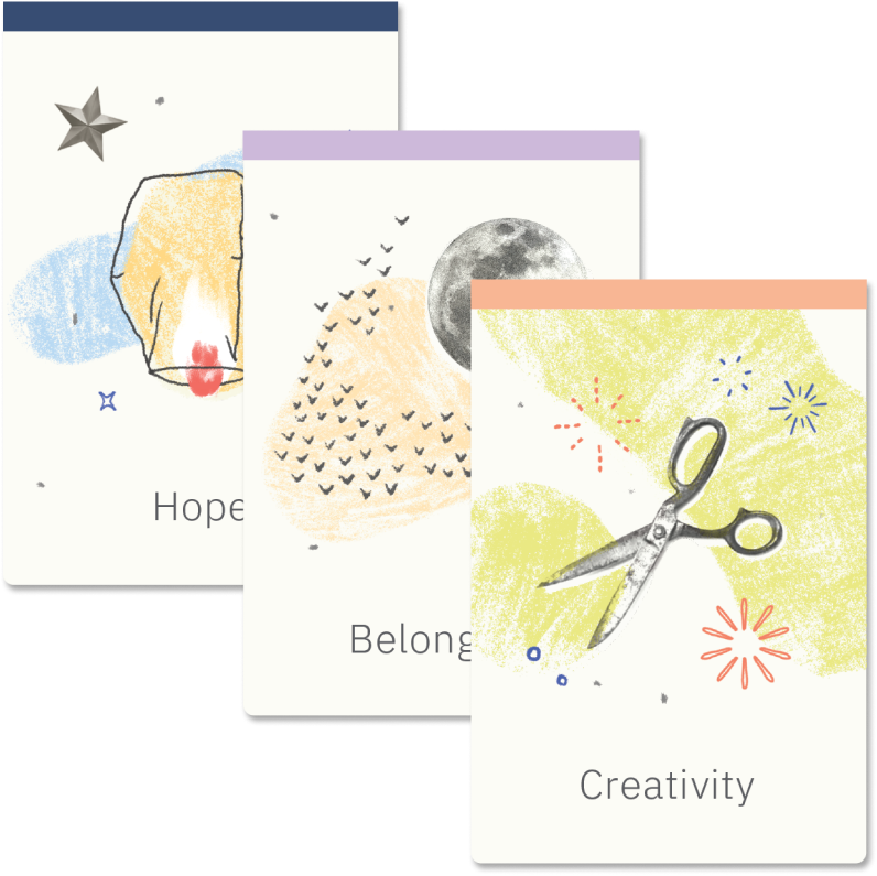 Develop new skills image - Illustration with three examples of skills