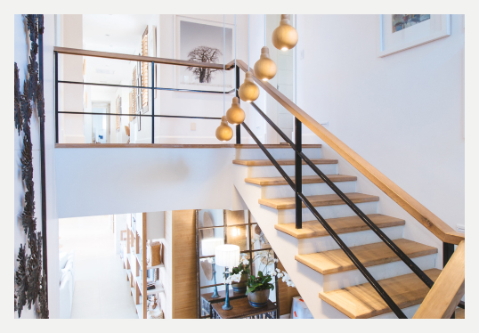 Image showing split level townhouse taken from the internal staircase