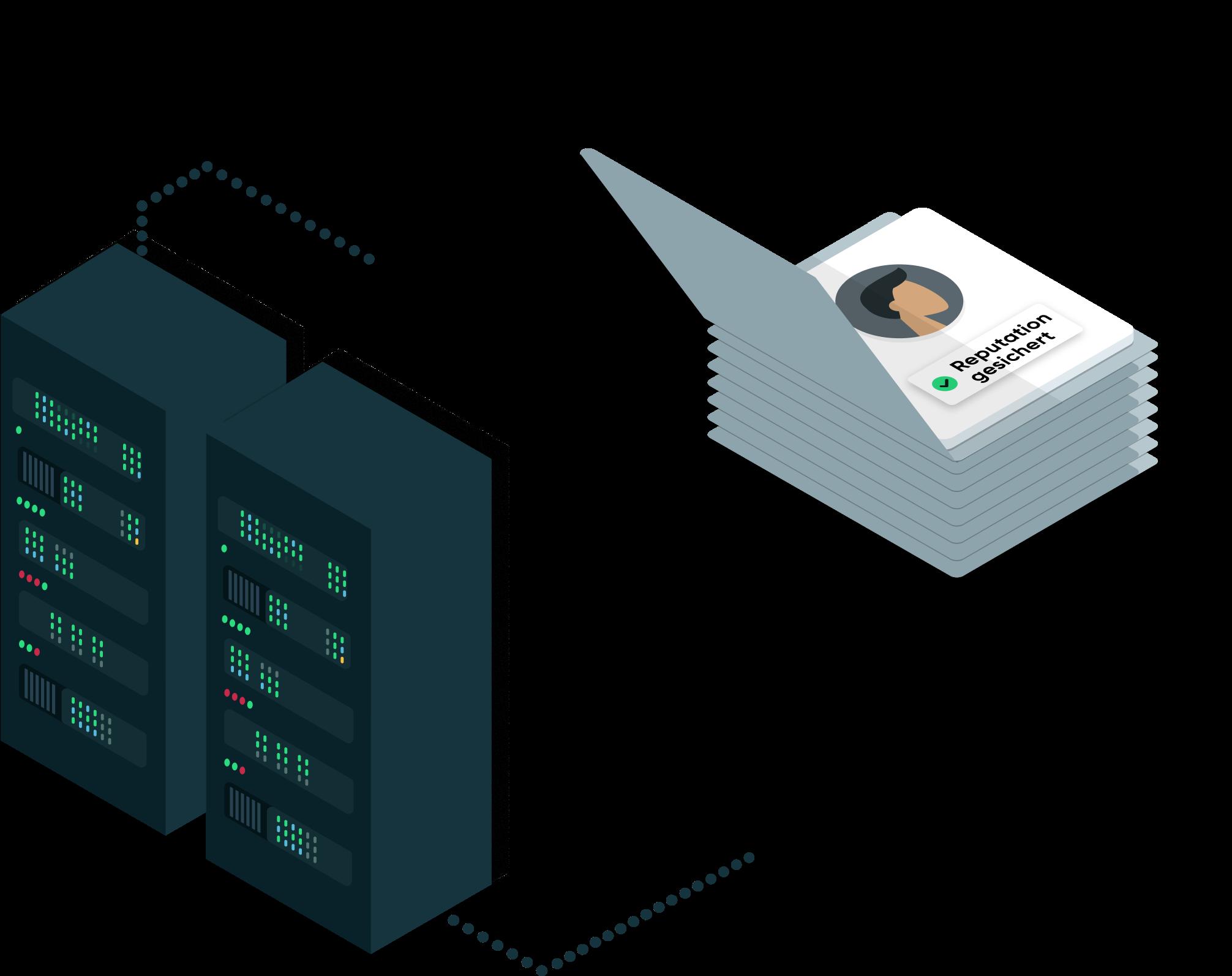 Server verarbeiten Daten
