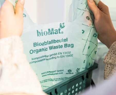 Kein Mikroplastik dank Bioabfallbeutel