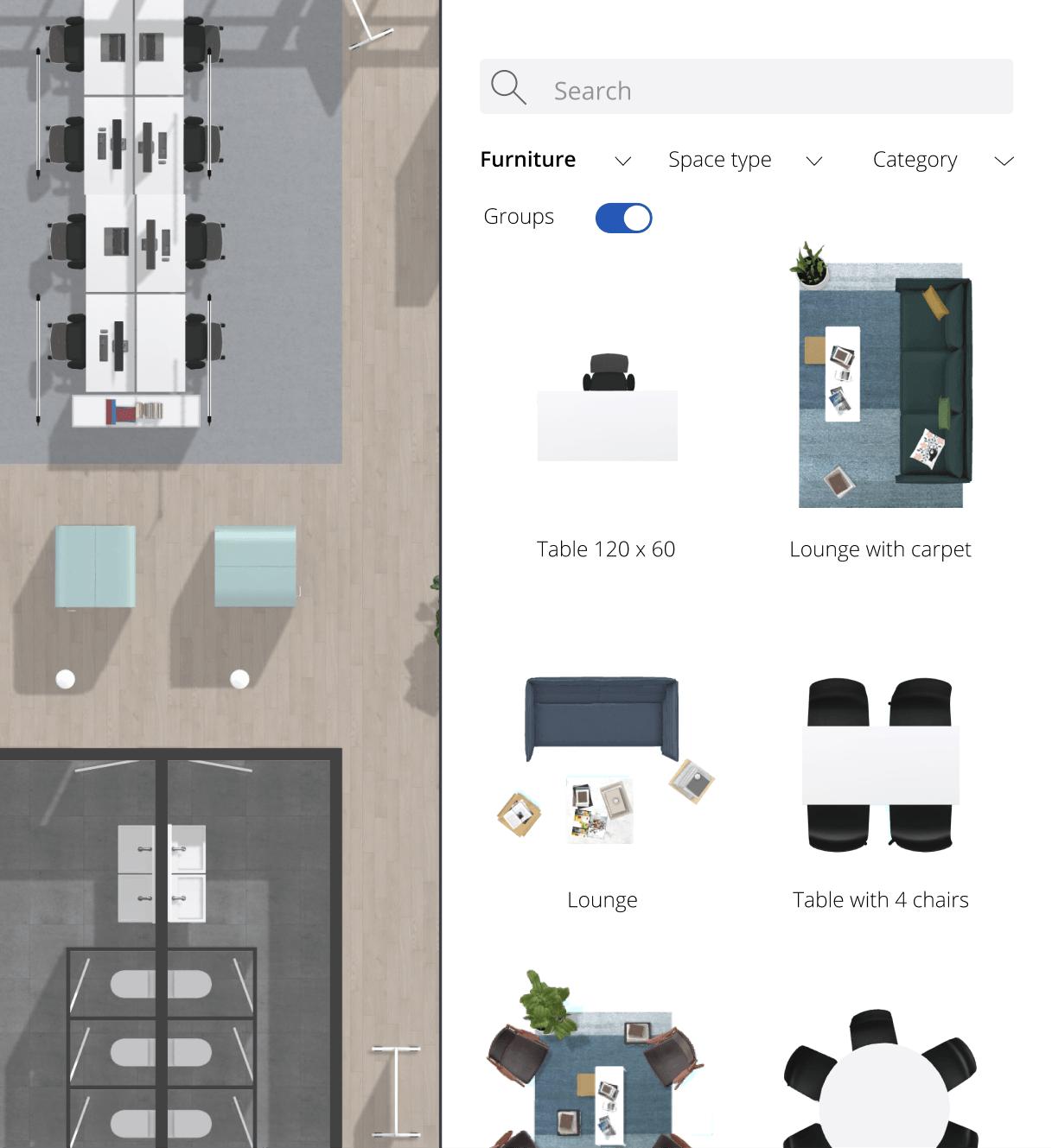 Edit furniture