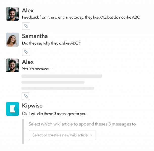 Save Slack messages