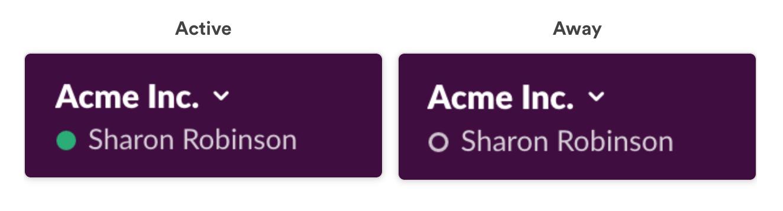 Slack Slash command - set status