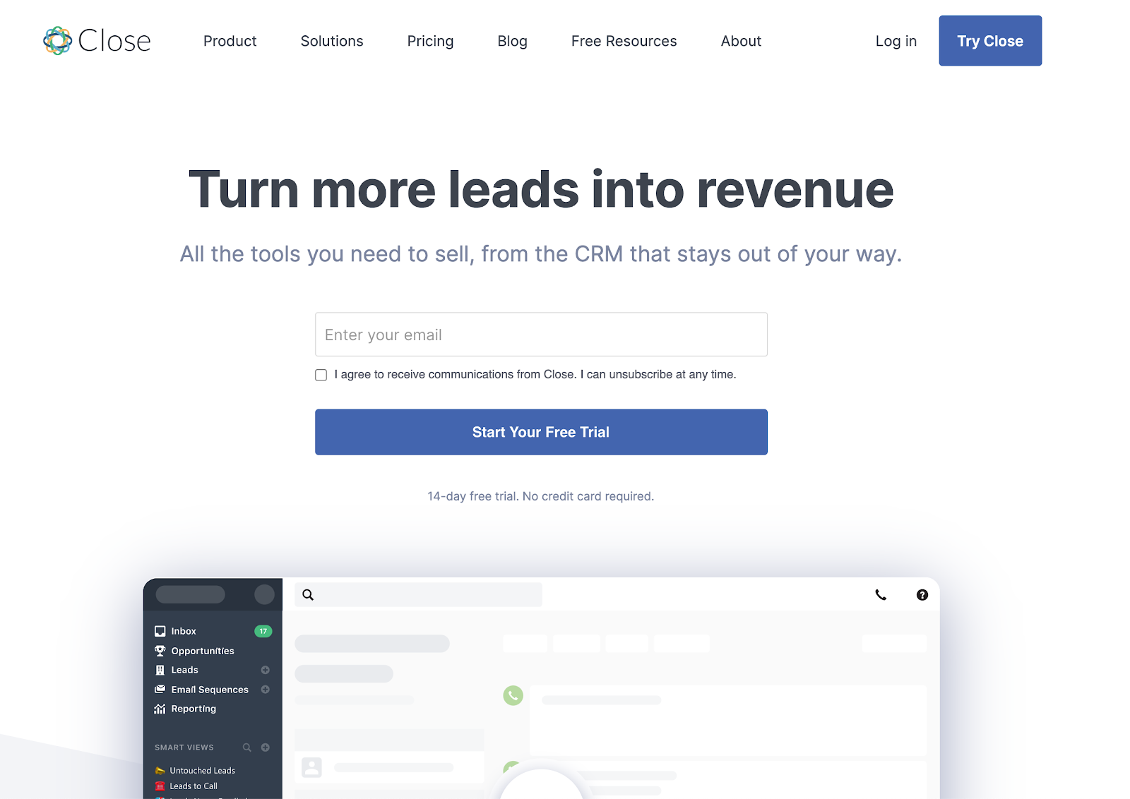 Startup stacks - Close CRM