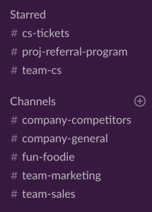 Slack Intro - Starred Slack Channels