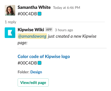 Slack message shortcut - Save to Kipwise