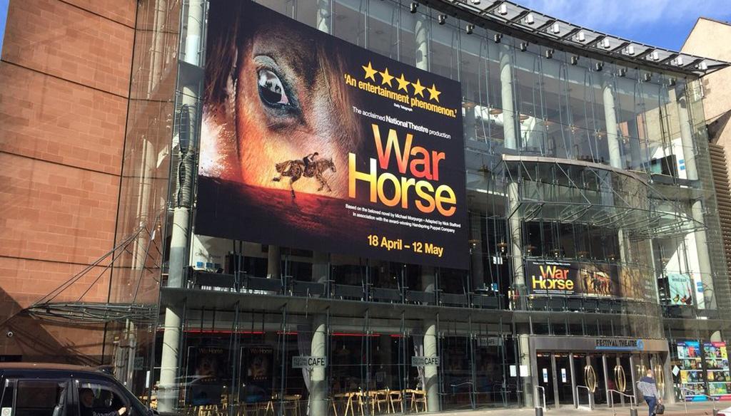 Large format print design for War Horse