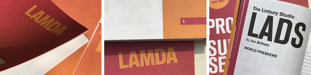 LAMDA brochure print design